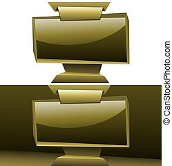 golden widescreen display origami background - shining ...