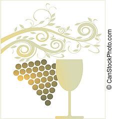 golden wine glass