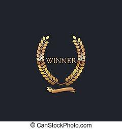 Golden Winner Award Sign