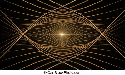 Golden Wire with Rays of Light