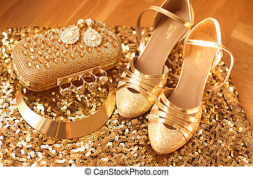 golden., womens, roupas, e, accessories., moda, shoes.,...