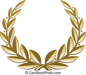 Golden Wreath. Vector Illustration (EPS v. 8.0)