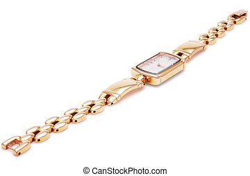 Golden Wristwatches isolated 1