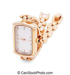 Golden Wristwatches isolated 2