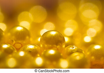 golden yellow beads background