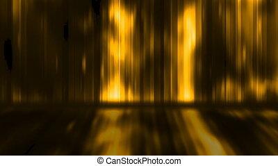 Golden Yellow Display Wall Loop
