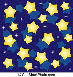 golden yellow stars over blue background vector illustration
