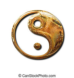 Golden Yin Yang sign
