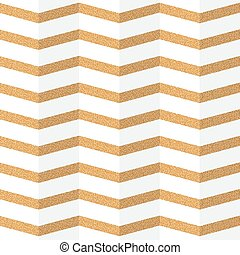 Golden zig zag paper seamless pattern. Vector background