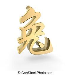 golden zodiac rabbit