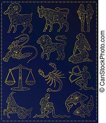 Golden zodiac signs