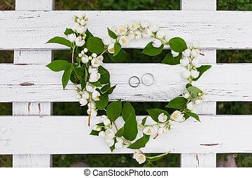 Goldenes Blume Liebe Braut Lie Symbolisch Symbol Bilder