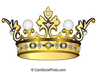 goldene krone, königlich