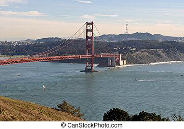 goldene torbrücke, in, san francisco, kalifornien
