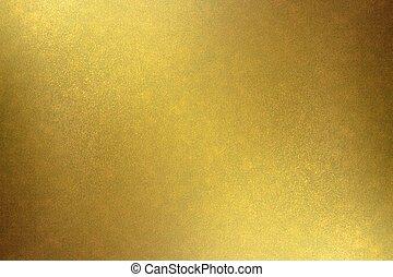 goldene wand, abstrakt, metall, beschaffenheit, hintergrund, dreckige