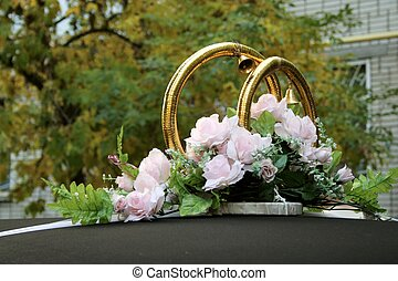 goldenes, 2, ringe, wedding