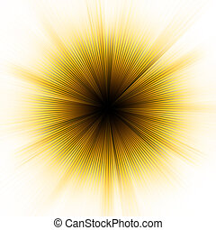 goldenes, 8, explosion, light., eps