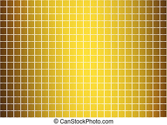 goldenes, abstrakt, muster, (vector)