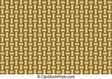 goldenes, abstrakt, seamless, muster, (vector)