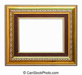 goldenes, ausschnitt, bilderrahmen, hintergrund, pfad,...