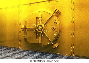 goldenes,  bank, Gewölbe