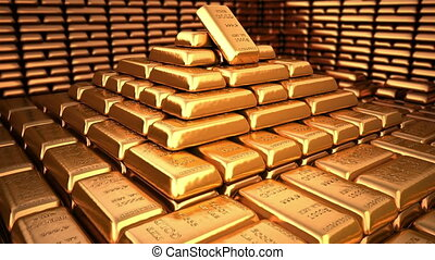 goldenes, barren, in, bank- wölbung, oder, sicher