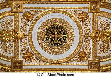 goldenes, ceiling.