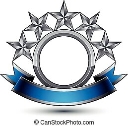 goldenes, curvy, symbol, geometrisch