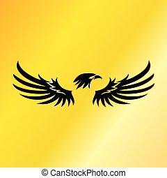 goldenes, emblem, adler