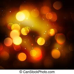 goldenes, festlicher, weihnachtsurlaub, hintergrund