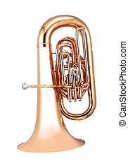 goldenes, französisches horn