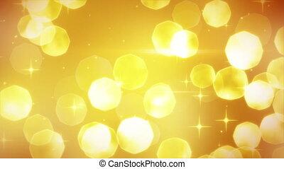 goldenes, funkelt, loopable, hintergrund, festlicher