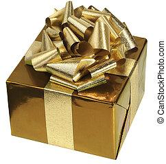 goldenes, geschenk