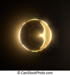 goldenes, glänzend, ring.
