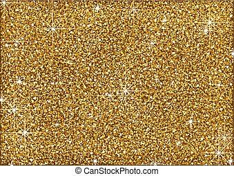 goldenes, glitzer, hintergrund, blank