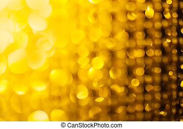 goldenes, glitzer, sternen, hintergrund, weihnachten