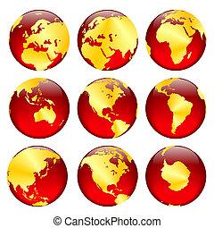 goldenes, globus 2, ansichten