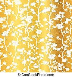 Goldenes gro stoff muster bl tter einladungen - Tapete asiatisch ...