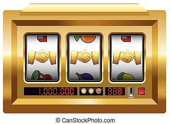 goldenes, hã¤ndedruck, automat