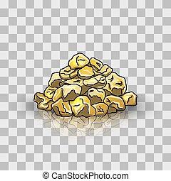 goldenes, haufen , klumpen