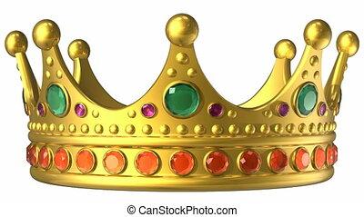 goldenes, königliche krone