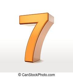 goldenes, nr. 7, 3d