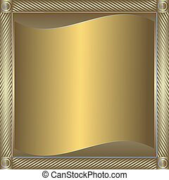 goldenes, rahmen, blank, silbrig