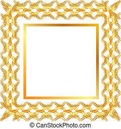 goldenes, Rahmen