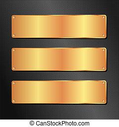goldenes, schwarzer hintergrund