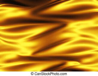 goldenes, seide