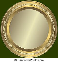 goldenes, silbrig, platte