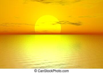 goldenes, sonnenaufgang