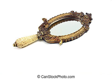 goldenes, spiegel