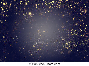 goldenes, stadt, flare., abstrakt, blitz, -, lichter, linse,...